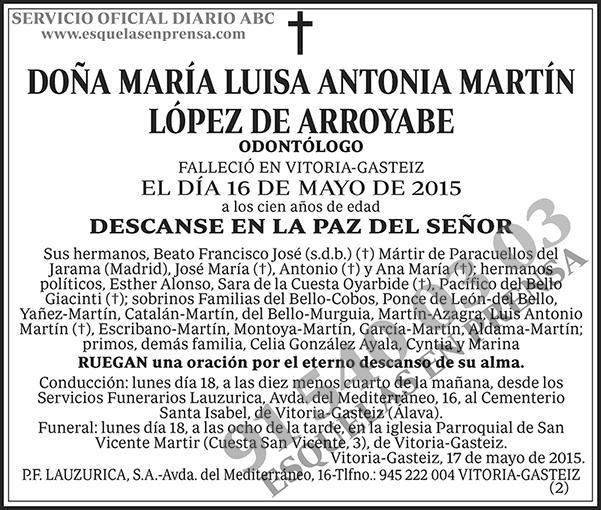 María Luisa Antonia Martín López de Arroyabe